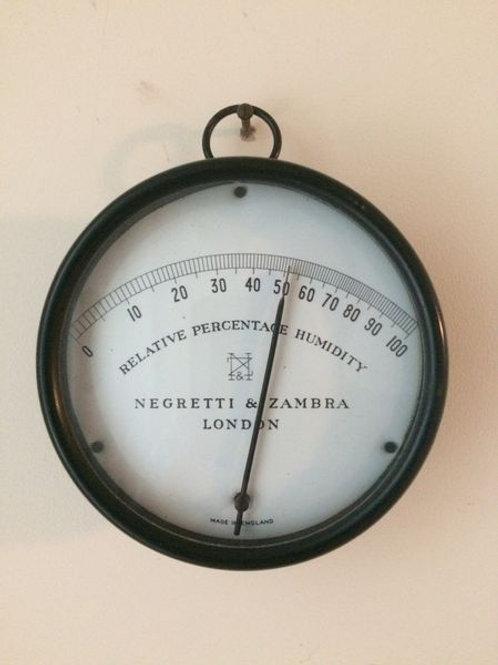 Negretti & Zambra Hygrometer c. 1925 England