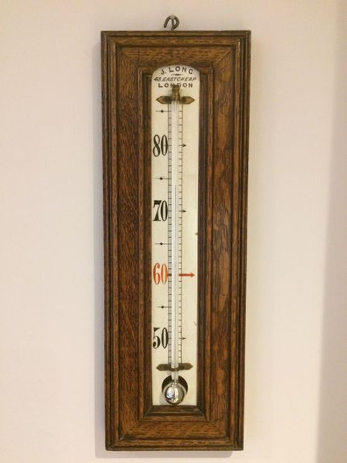 Large Thermometer by J. Long, 43, Eastcheap, London c. 1895 England