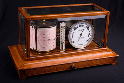 Mahogany Cased Barograph by A.N.C.S. Ltd, London, ca. 1910