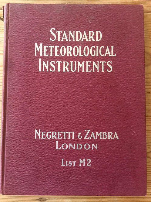 Negretti & Zambra London Standard Meteorological Instruments Ref: M2 Circa 1930