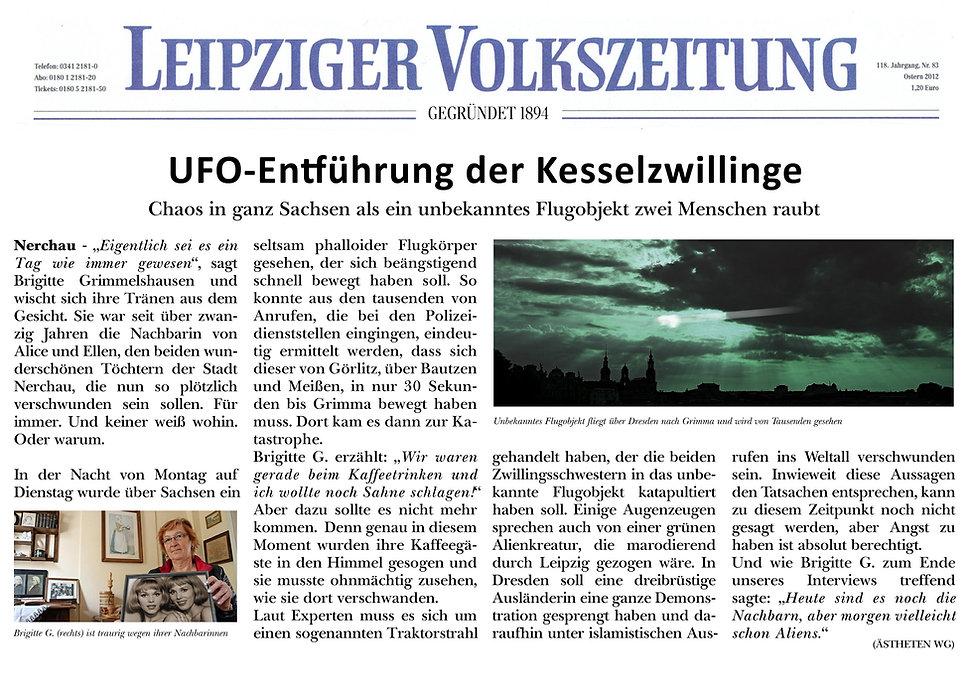 Zeitungsartikel-Fake