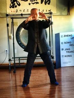 Dr Ming Wu doing qigong