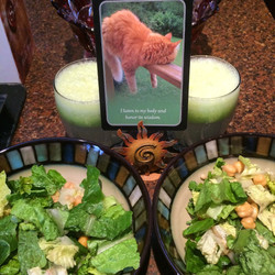 Oracle Cards and Healthy Food