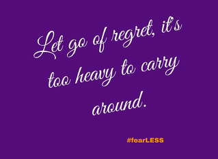 Letting go of regrets