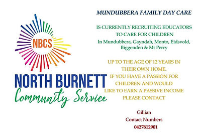Munbdubbera Family Day Care Vacancies