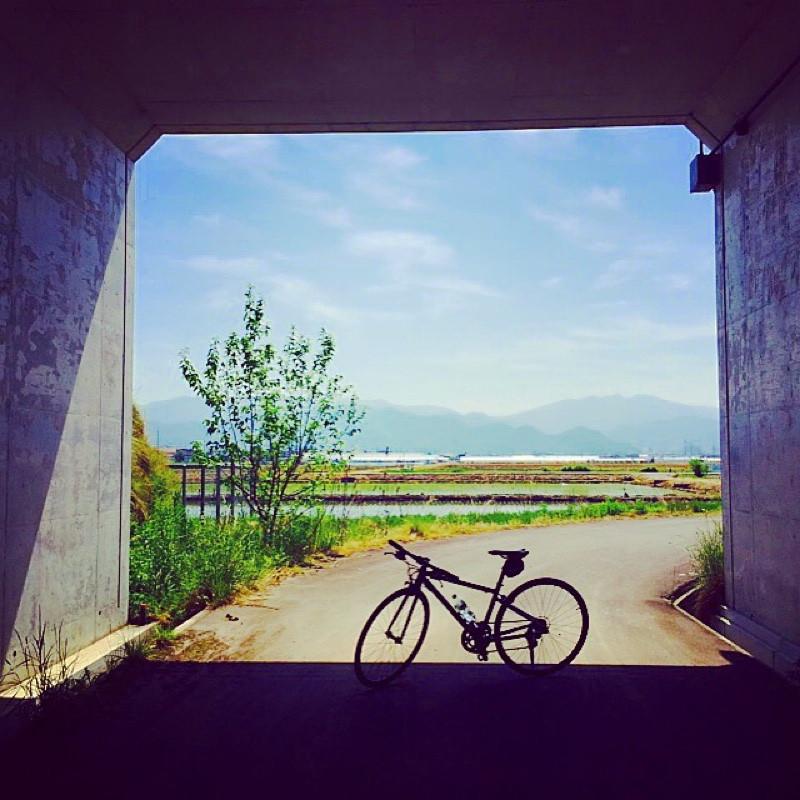 自転車と風景