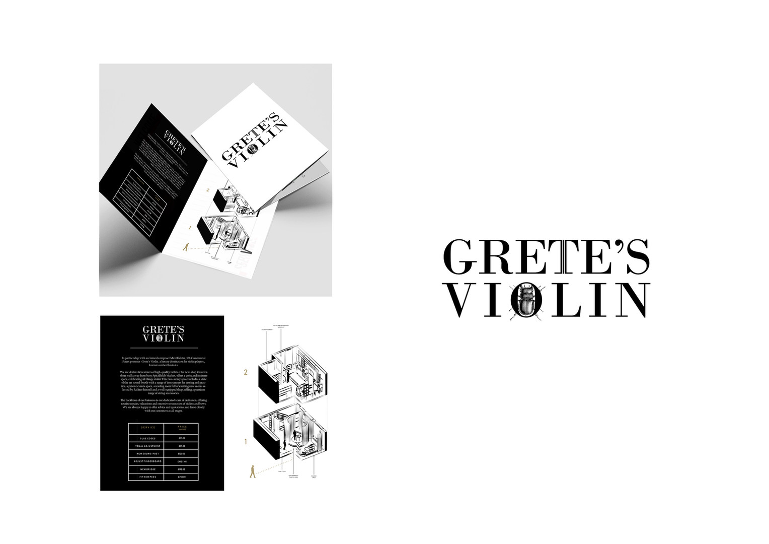 Grete's Violin Branding