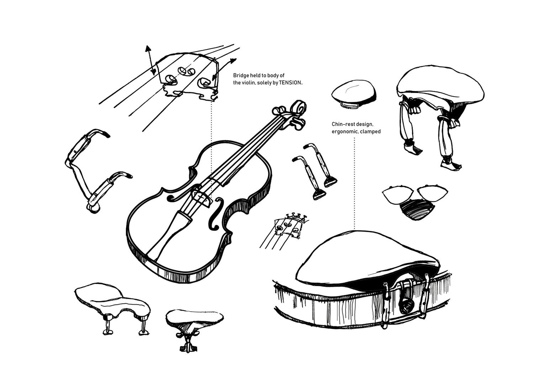 Violin Drawings