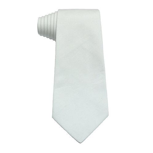 Hand Made 8/5 Fold Regular Cut Tie White