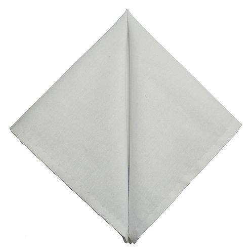 Hand Made Pocket Square White