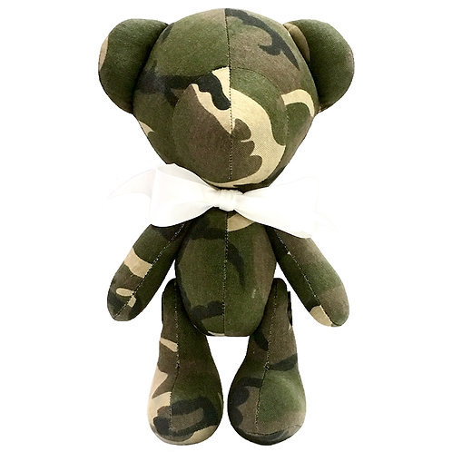 Hand Made Military Camouflage Teddy Bear - Size L