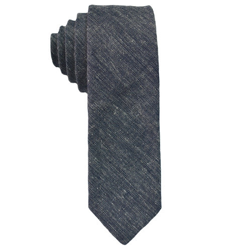 Hand Made Narrow Cut Tie Chambray