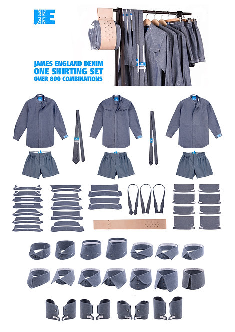 Deluxe Denim Shirting Set