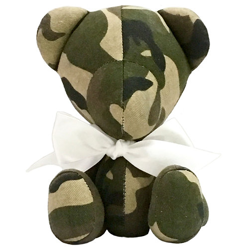 Hand Made Camouflage Teddy Bear - Size S