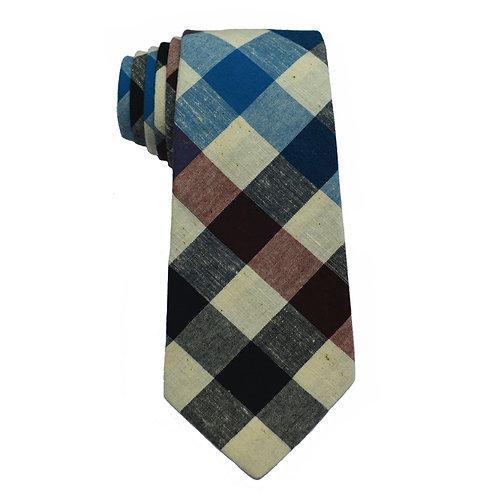 Hand Made 8/5 Fold Regular Cut Tie Multi Check