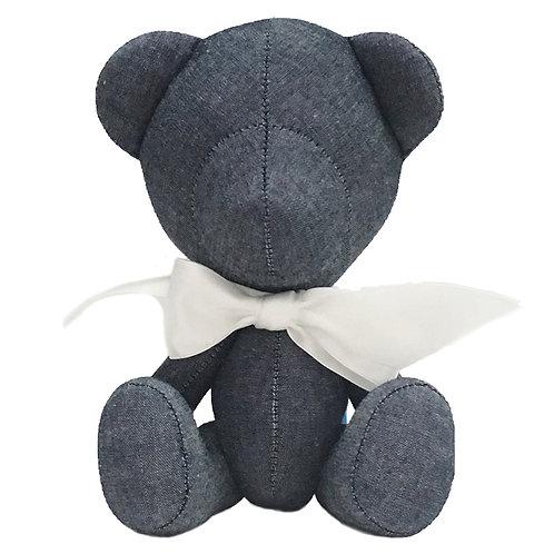 Hand Made Denim Teddy Bear - Size S