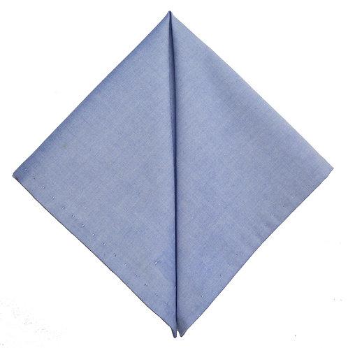 Hand Made Pocket Square Blue