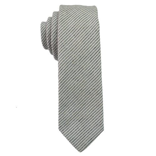 Hand Made Narrow Cut Stripe Grey