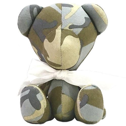 Hand Made Desert Camouflage Teddy Bear - Size S