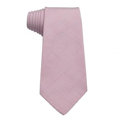 Hand Made 8/5 Fold Regular Cut Tie Pink