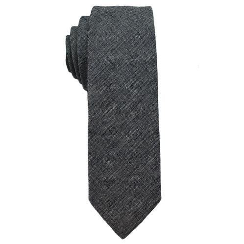 Hand Made Narrow Cut Tie Denim