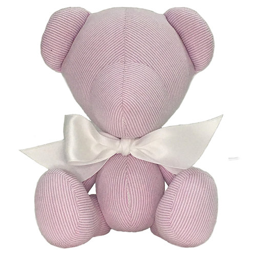 Hand Made Pink Candy Stripe Teddy Bear - Size S