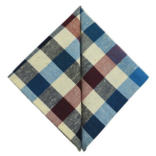 Hand Made Pocket Squares Mixed Check