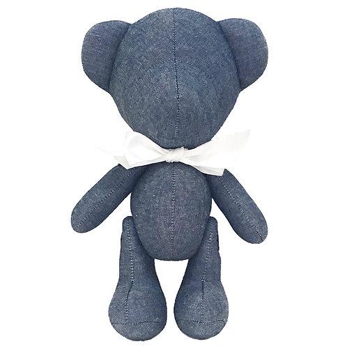 Hand Made Denim Teddy Bear - Size L