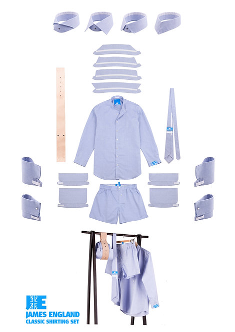 Classic Shirting Set - French Blue Oxford