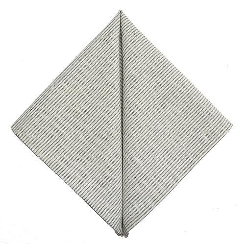 Hand Made Pocket Square Grey Stripe