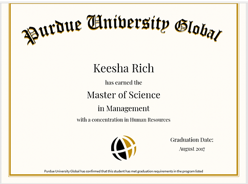 Purdue University Certificate of Complet