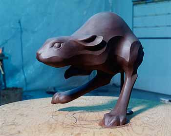 Most sculptors prefer to work with clay or wax; some however, do use wood and other mediums. Here the finished original clay is now complete. The sculptor will take it to the foundry now, get a bid then begin the first stages of the lost wax process.