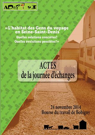 Actes - Journée d'échanges sur l'Habitat des Gens du voyage en Seine-Saint-Denis