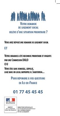 DAHO/DALO du nouveau en Ile-de-France : un Manuel pratique et une plateforme téléphonique.