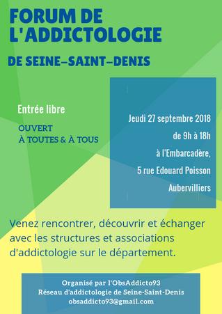 Forum de l'addictologie de Seine-Saint-Denis - 27/09
