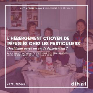 """Prochain atelier de la Dihal : """"L'hébergement citoyen de réfugiés chez des particuliers&quo"""