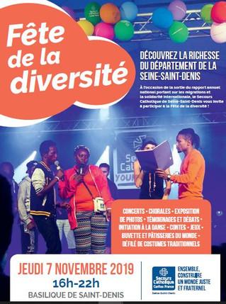 Le Secours Catholique célèbre la diversité à St Denis - 7/11 (16h-22h)