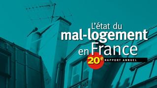 20ème rapport Fondation Abbé Pierre : les chiffres du mal - logement en 2015.