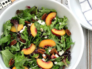 Peach, Feta and Pecan Salad