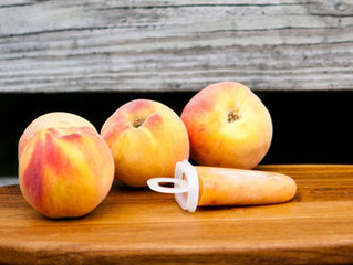 Ginger Peach Pops