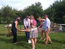 78 Yvelines Mariage à la Ferme d'Orgeval Jeux en bois Jeux de kermesse mariage jeux en bois