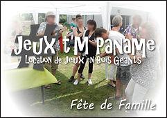 fête de famille Jeux en bois animation location paris