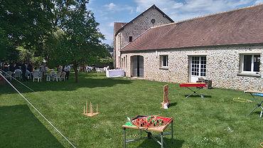 Mariage à la Ferme d'Orgeval 78 Yvelines Jeux en bois Animation Mariage Jeux de Kermesse