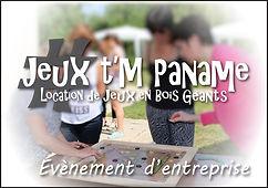 entreprise événement Jeux en bois animation location paris