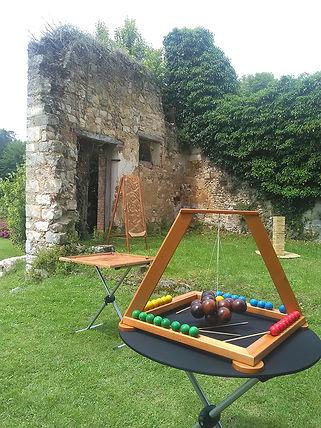 Chateau de Vallery Mariage jeux en bois - Jeux t'M Paname - Animation Mariage 89 yonne