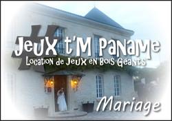 Location jeux en bois mariage paris
