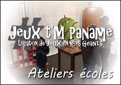 atelier école Jeux en bois animation location paris