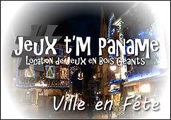 ville en fête Jeux en bois animation location paris