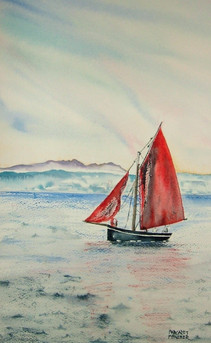 Galway Hooker In The Bay