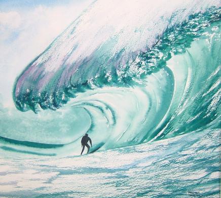 Surfer surviving!